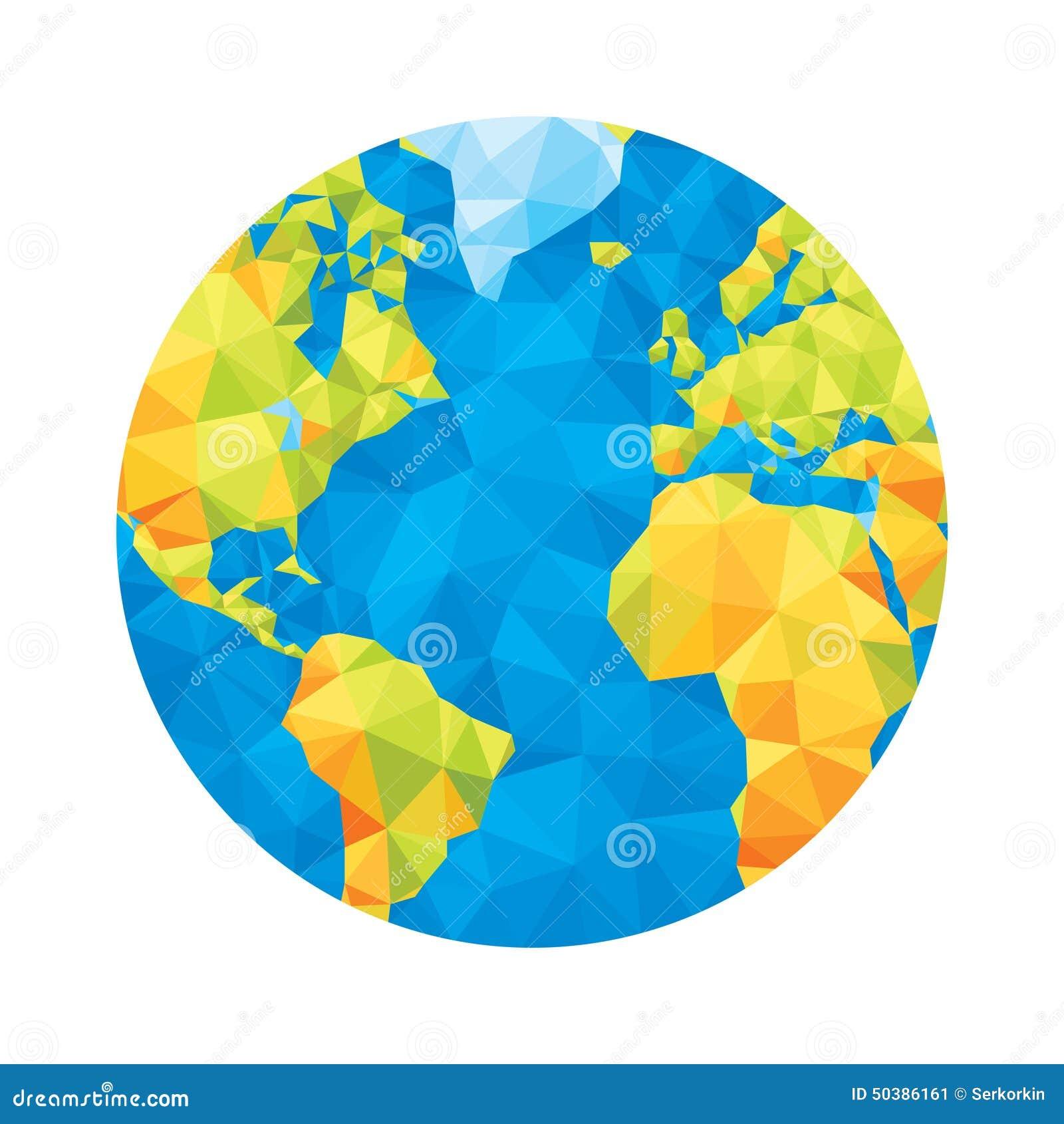 globe map abstract geometric vector illustration globe. Black Bedroom Furniture Sets. Home Design Ideas