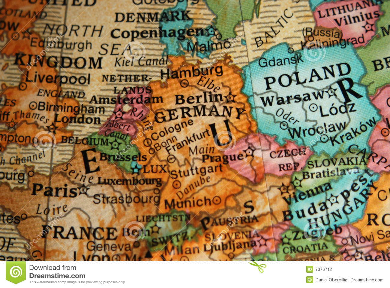 Globe Map Of Central Europe Stock Photo Image Of Belgium