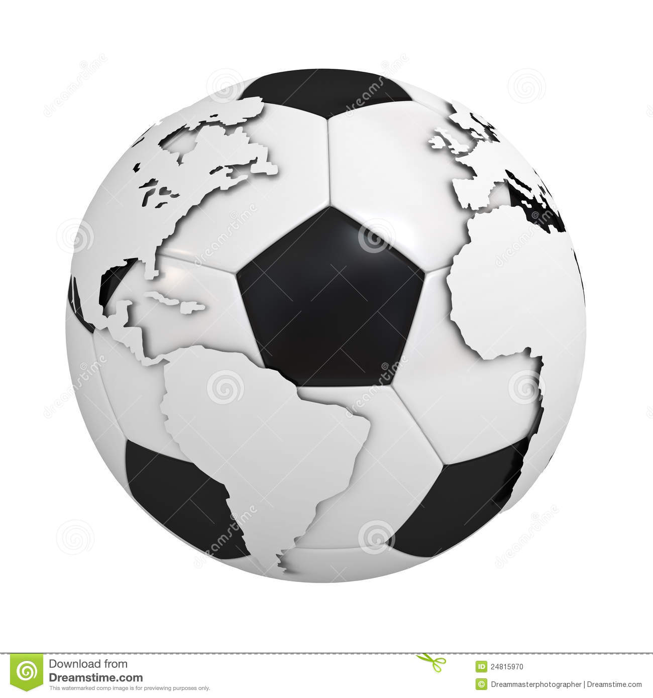 Globe map on soccer ball stock illustration illustration of ball download comp gumiabroncs Images