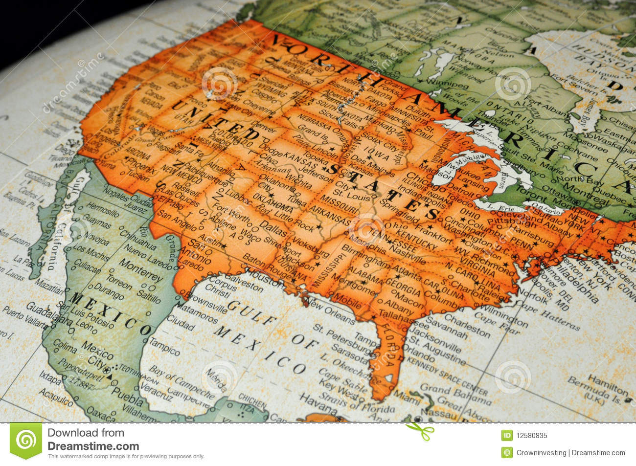Globe Or Map Of United States Stock Image   Image of west, texas