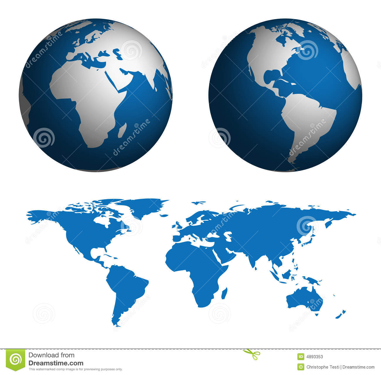 Globe And Map Of The World Stock Photos Image 4893353