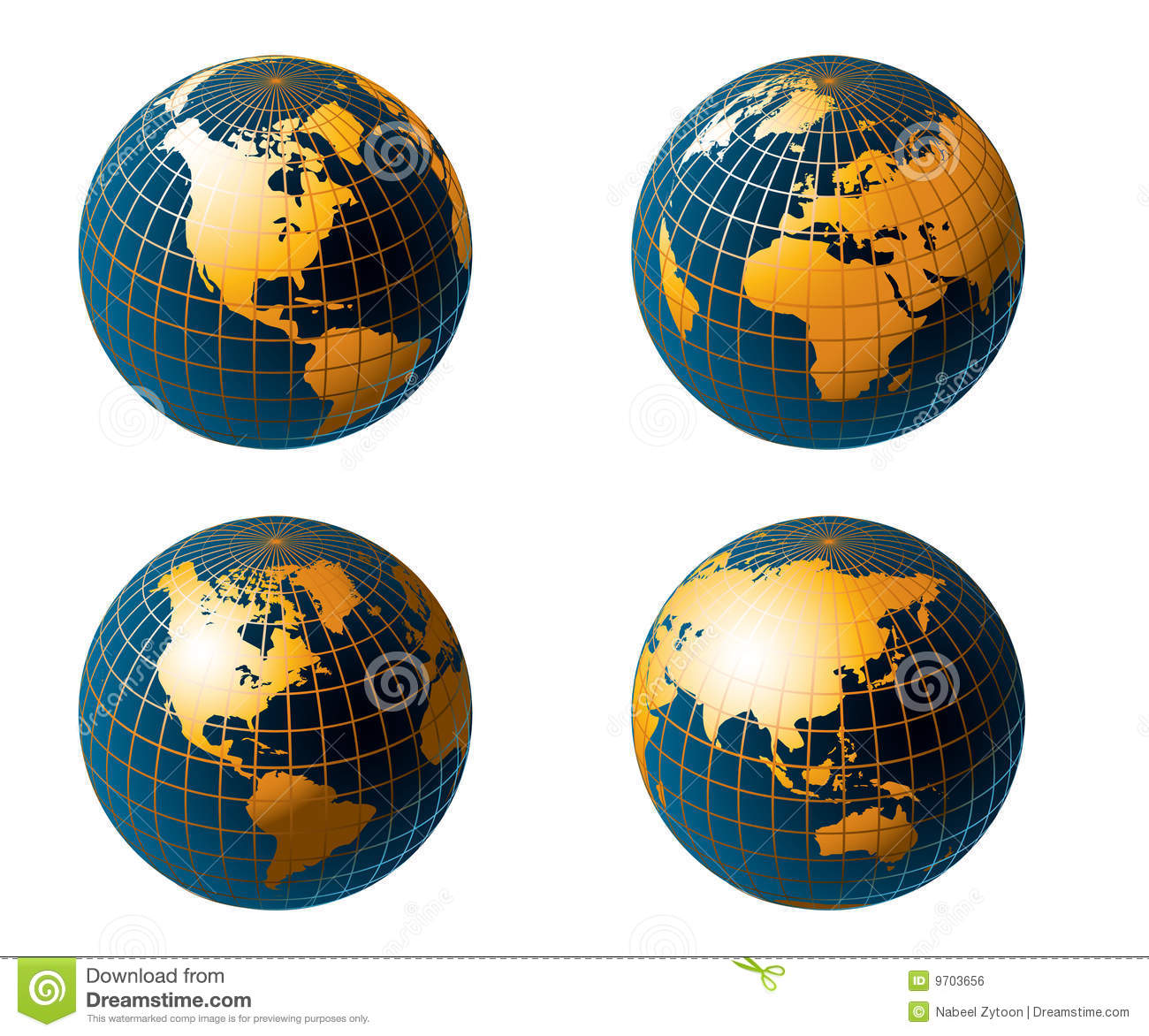 Globe Map Of The World Royalty Free Stock Image Image - Globe map of the world