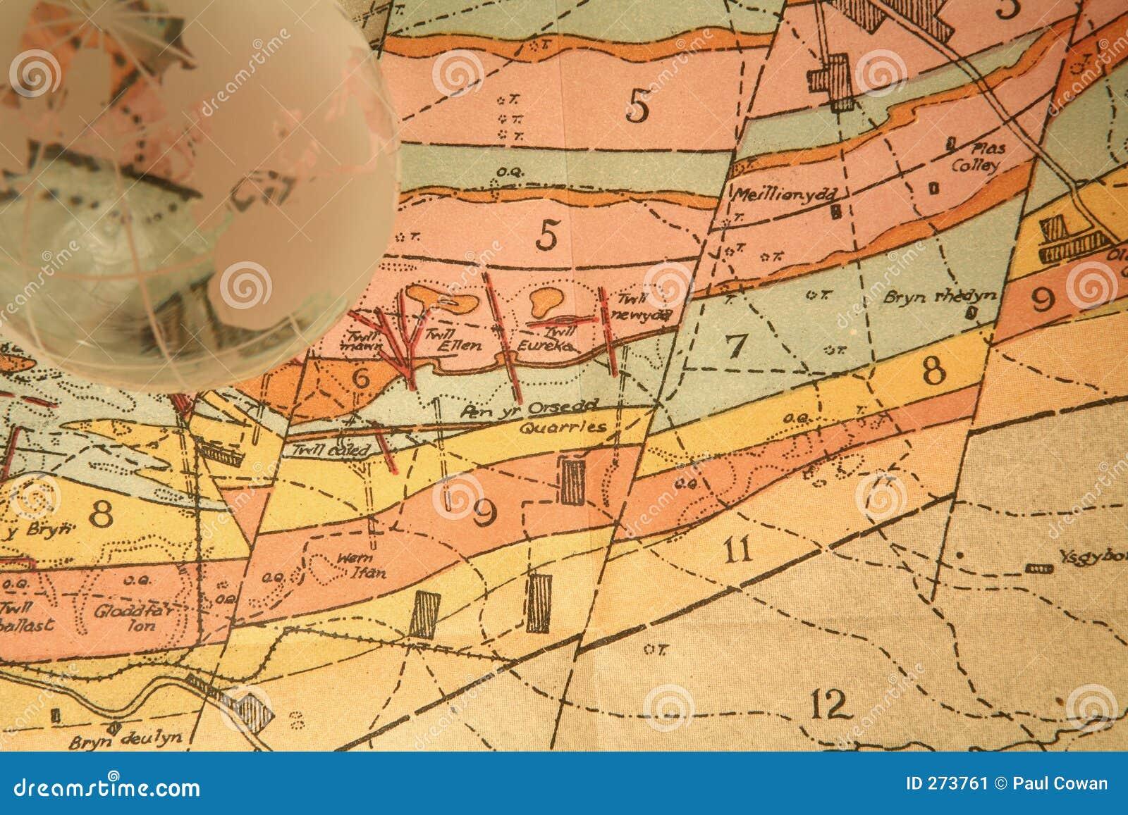 Globe mapa geologiczna