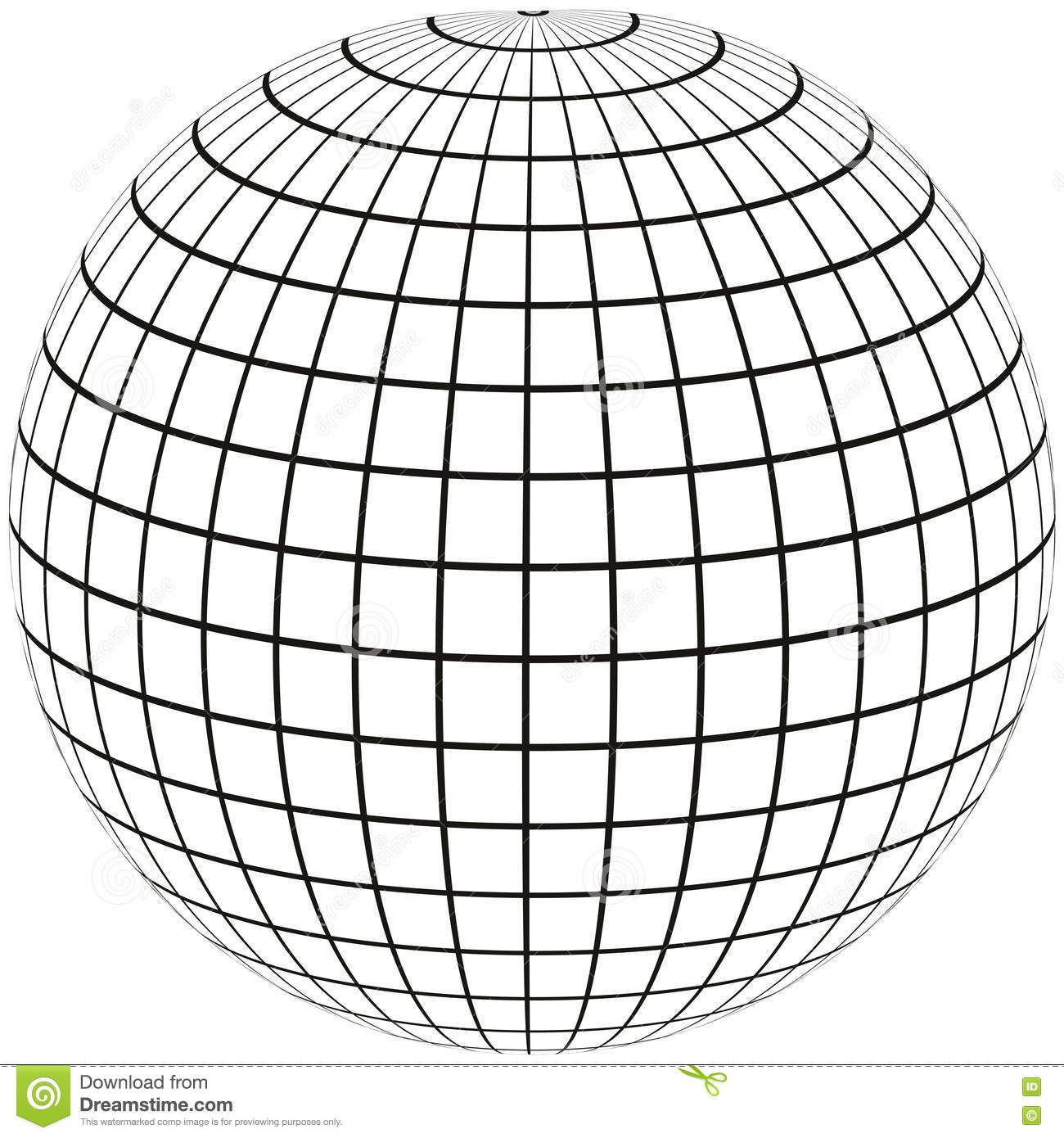Line Drawing Globe : Globe meridian and longitude stock vector image