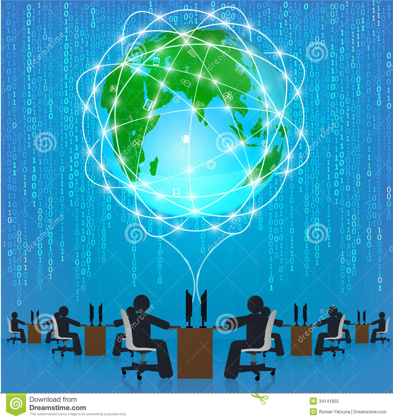 Royalty Free Stock Photo Globe  work Connection Matrix Technology Template Infographics Business Concept Image34141855 on wire connection symbol