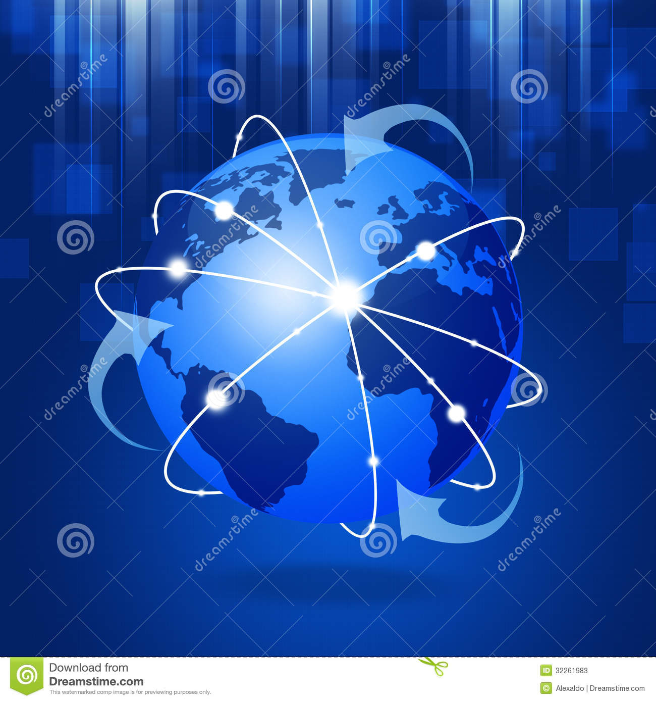 network connection connections technology global globe business background abstract illustration