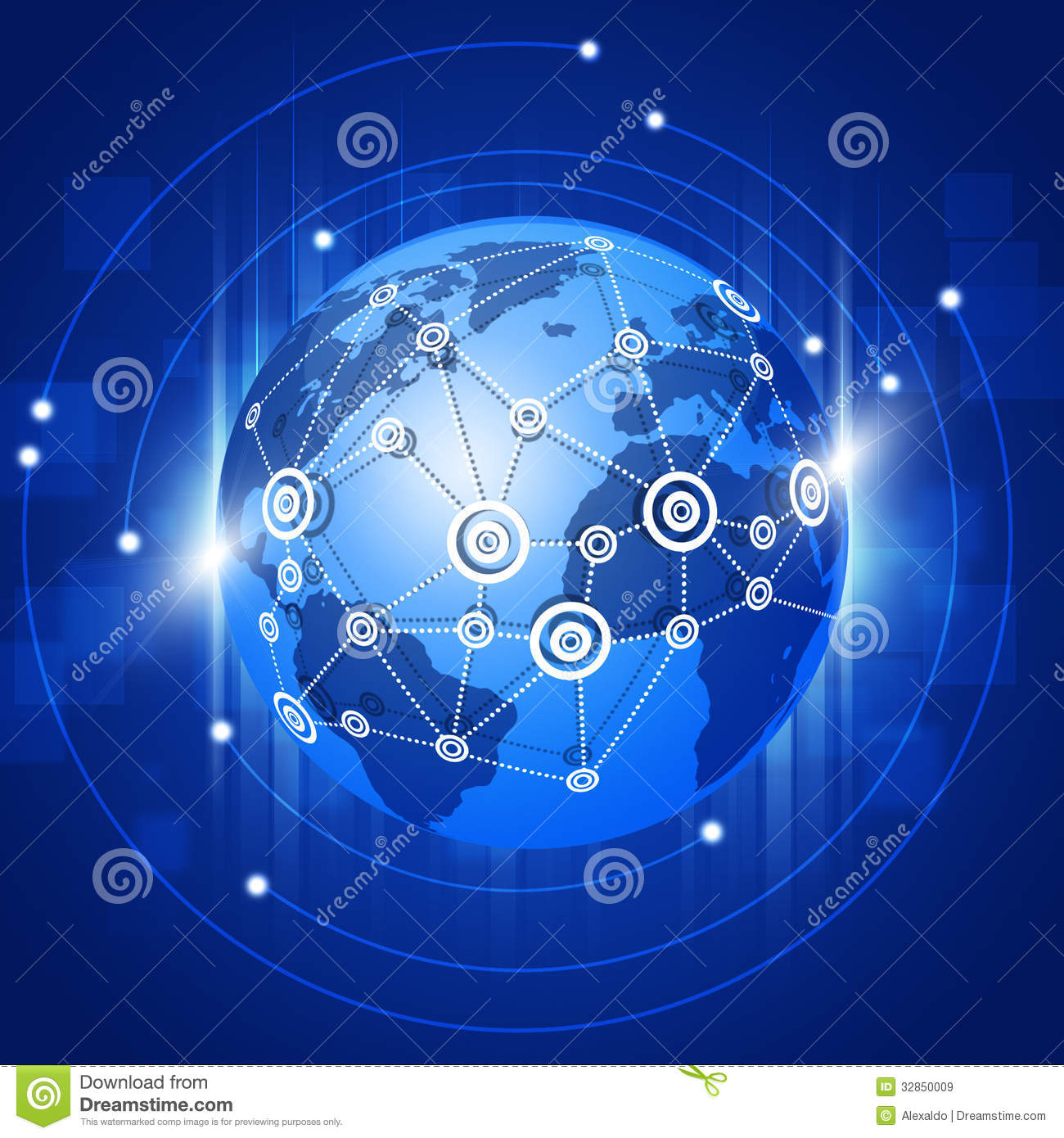 Globe Network Connections Royalty Free Stock Images ...