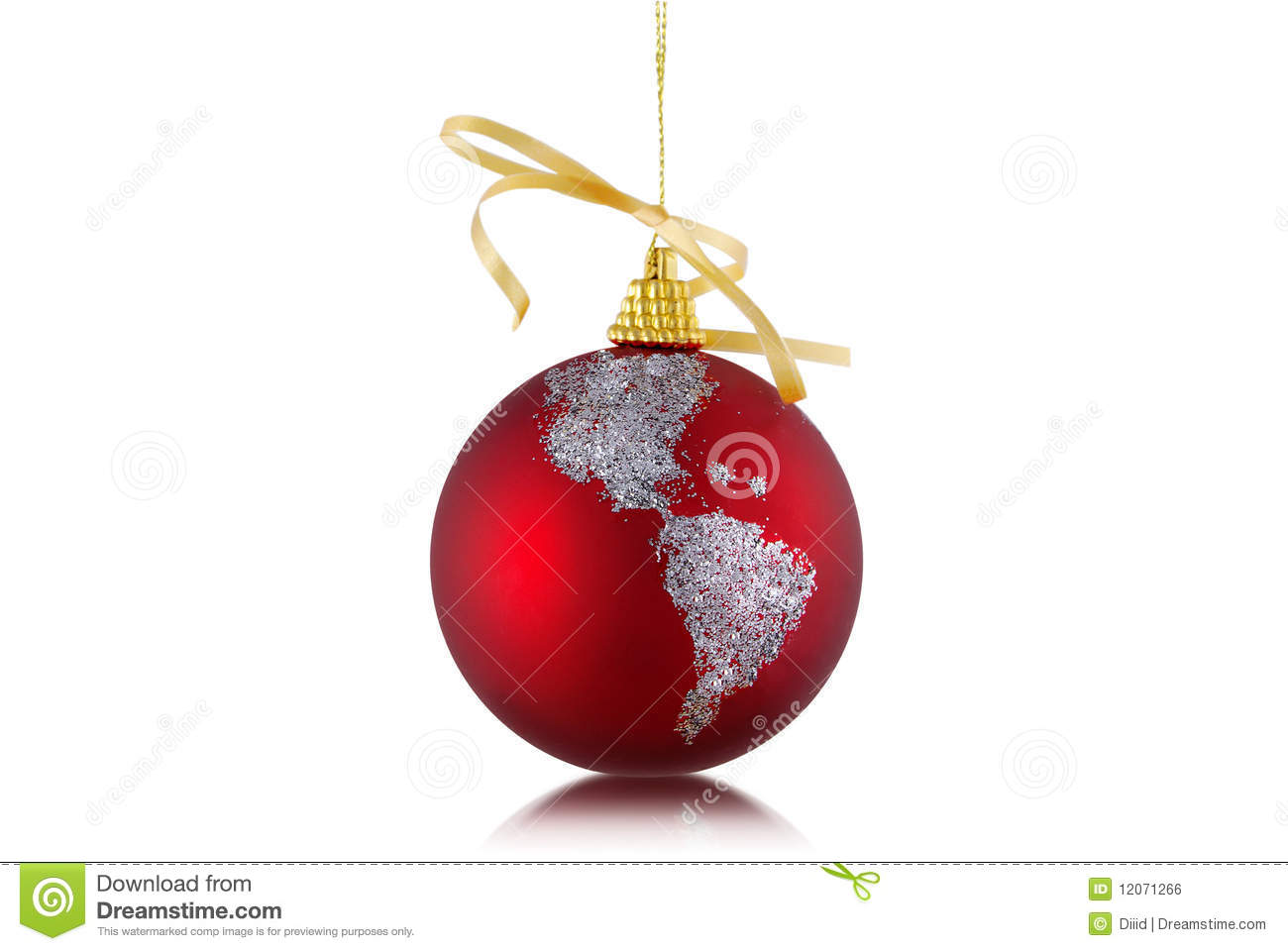 Globe Ornament For Christmas Stock Photo - Image of ...