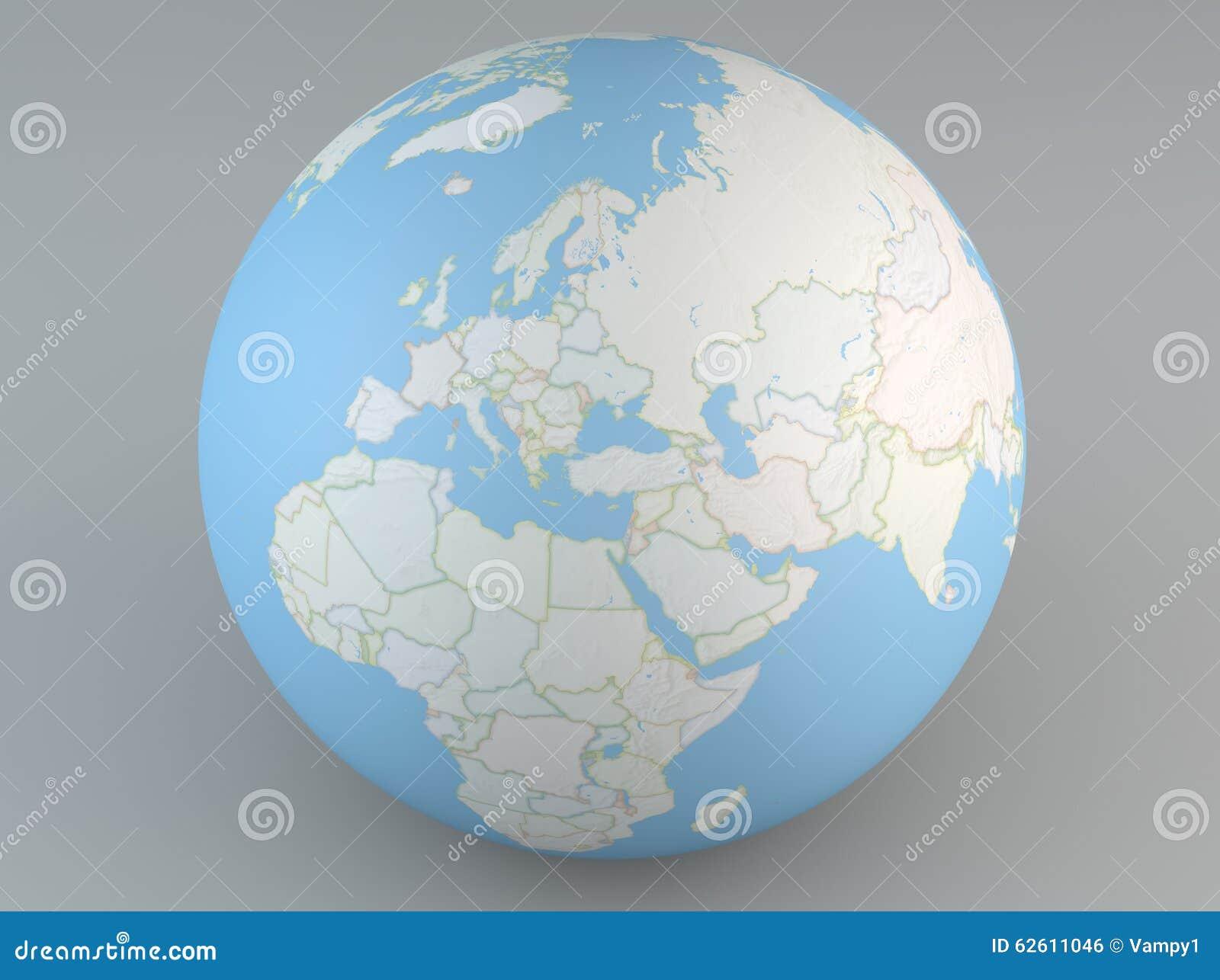 Carte De Lafrique Et Moyen Orient.Globe Politique De Carte De L Europe De Moyen Orient Asie Et De L