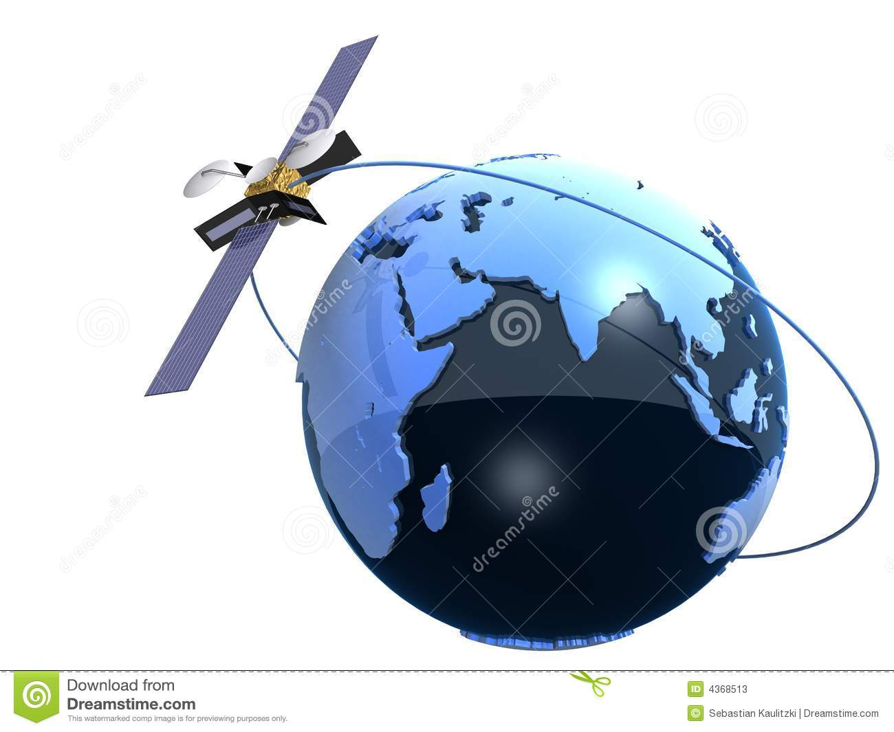 Globe And Satelite Stock Photos Image 4368513