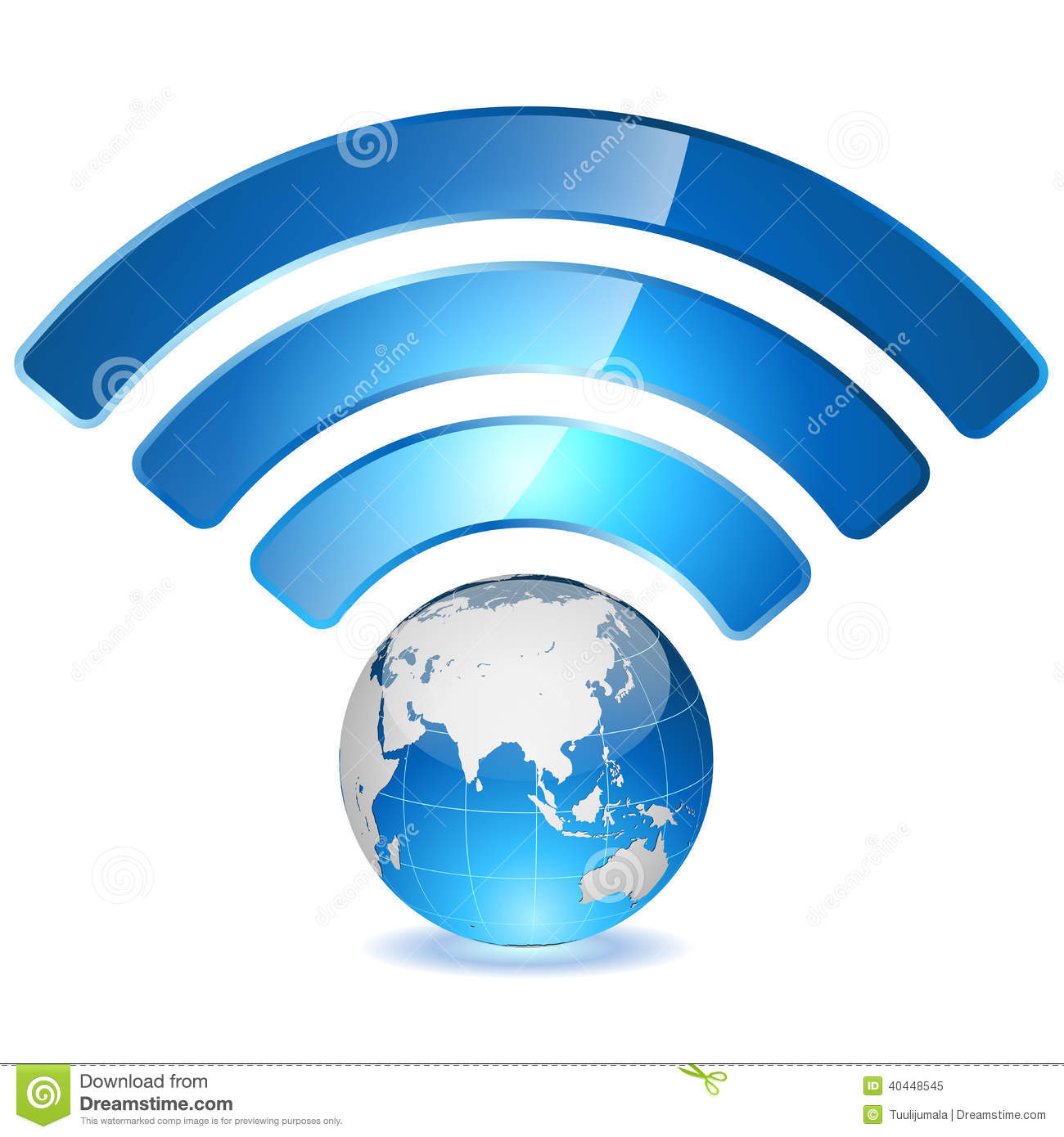 globe with signal arcs stock vector image 40448545 Globe Icon Blue World Globe Icon