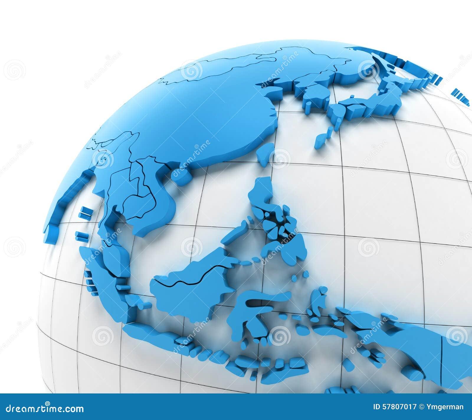 Map Of Asia 3d.3d Map Of Southeast Asia Twitterleesclub
