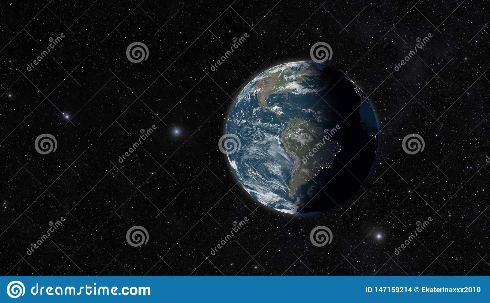 The globe in space