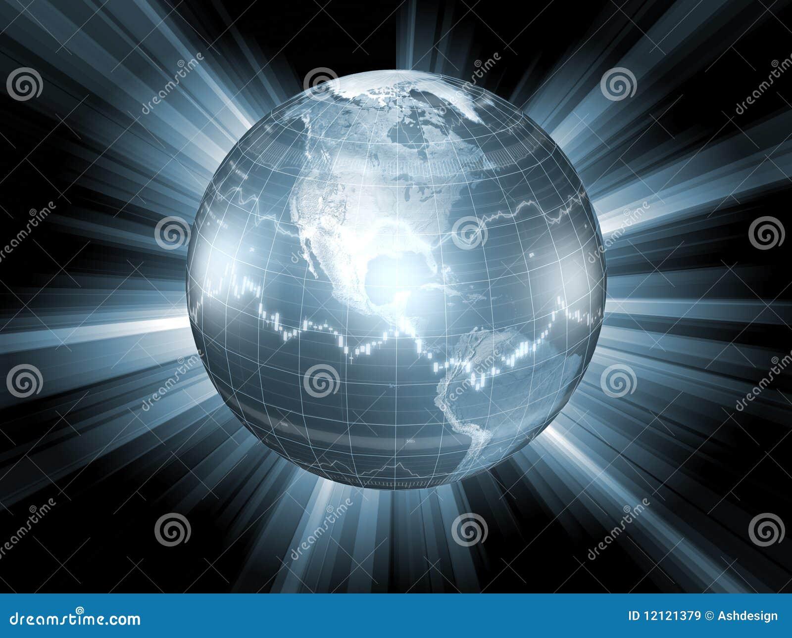 Globe with stock market symbols stock illustration illustration of globe with stock market symbols buycottarizona Gallery