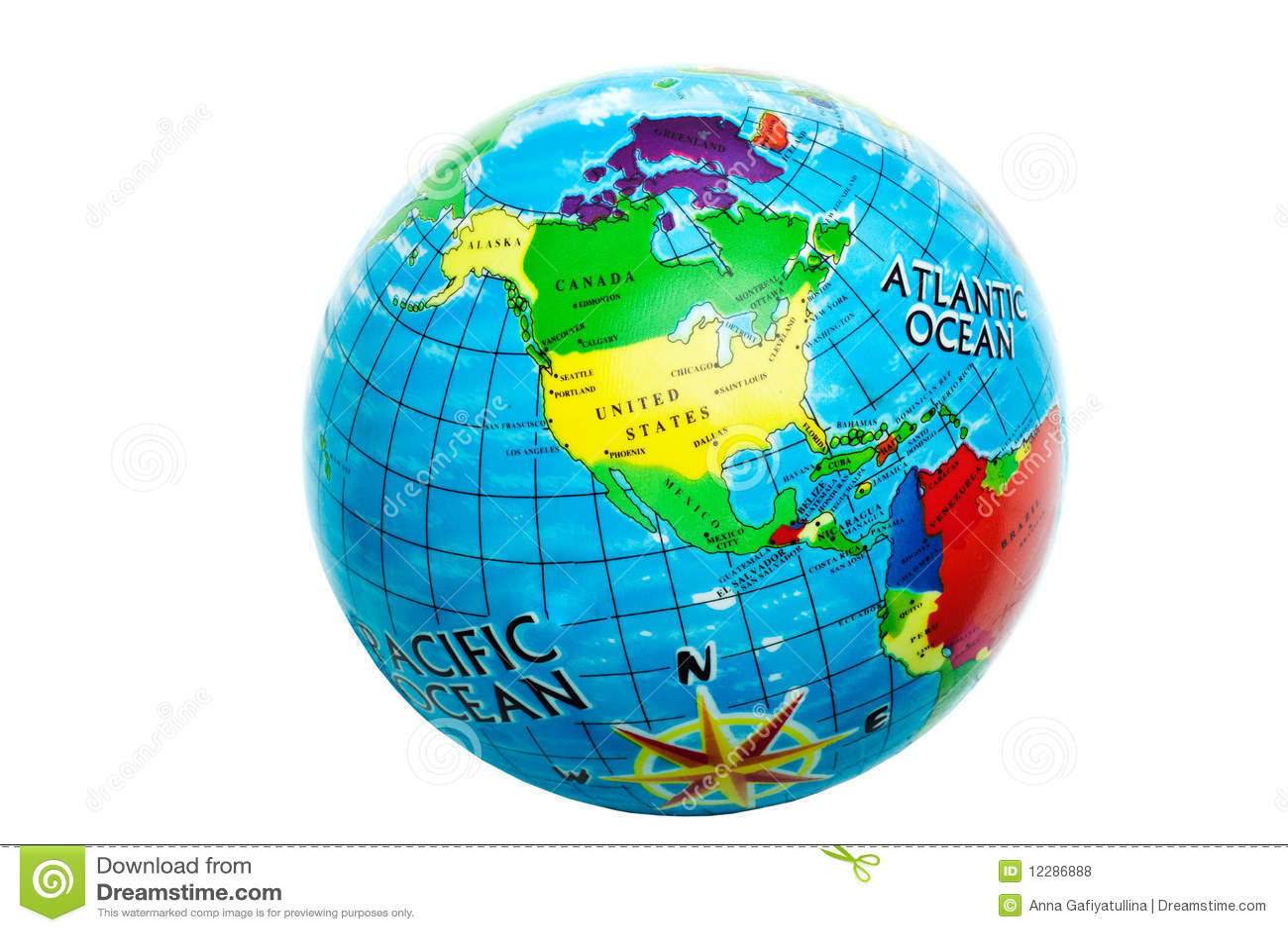 Globe sur un fond blanc