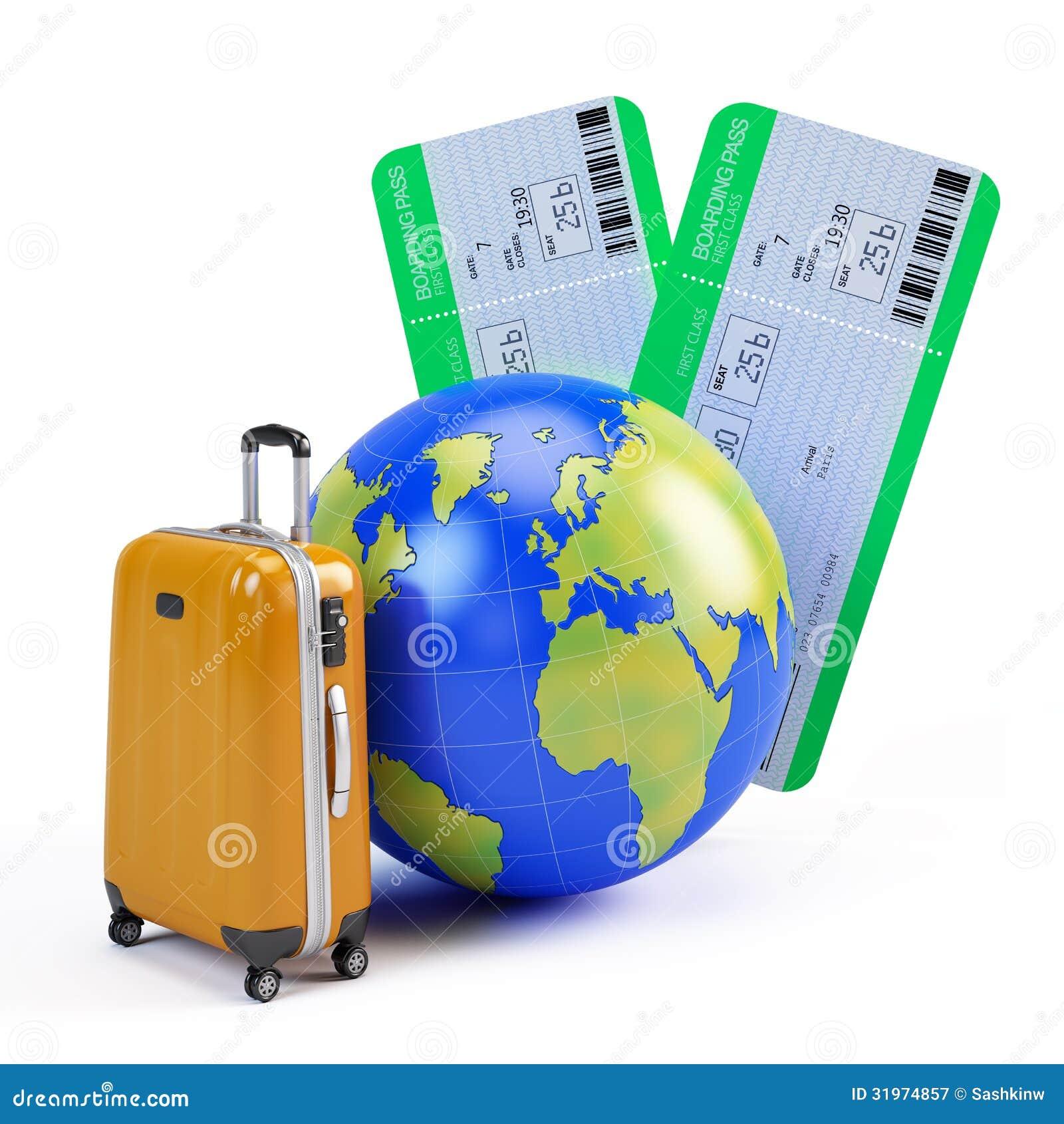globe valise et billets d 39 avion illustration stock illustration du r cr ation globe 31974857. Black Bedroom Furniture Sets. Home Design Ideas