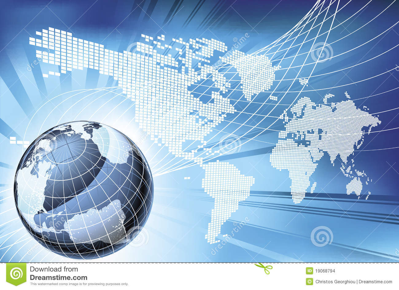 Globe Word Map Of Earth Background Stock Images - Image: 19068794