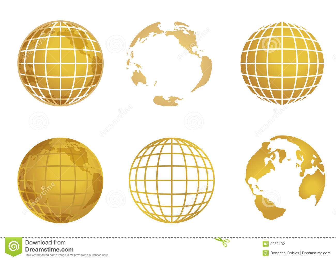 Globe world map stock vector illustration of lines gold 8353132 globe world map gumiabroncs Images