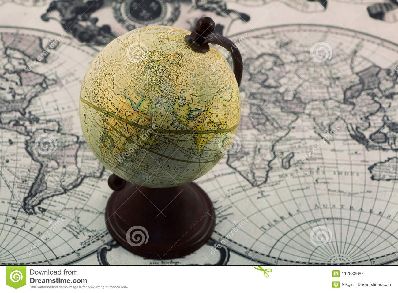 Globe on the world map stock image image of business 112638687 royalty free stock photo gumiabroncs Images