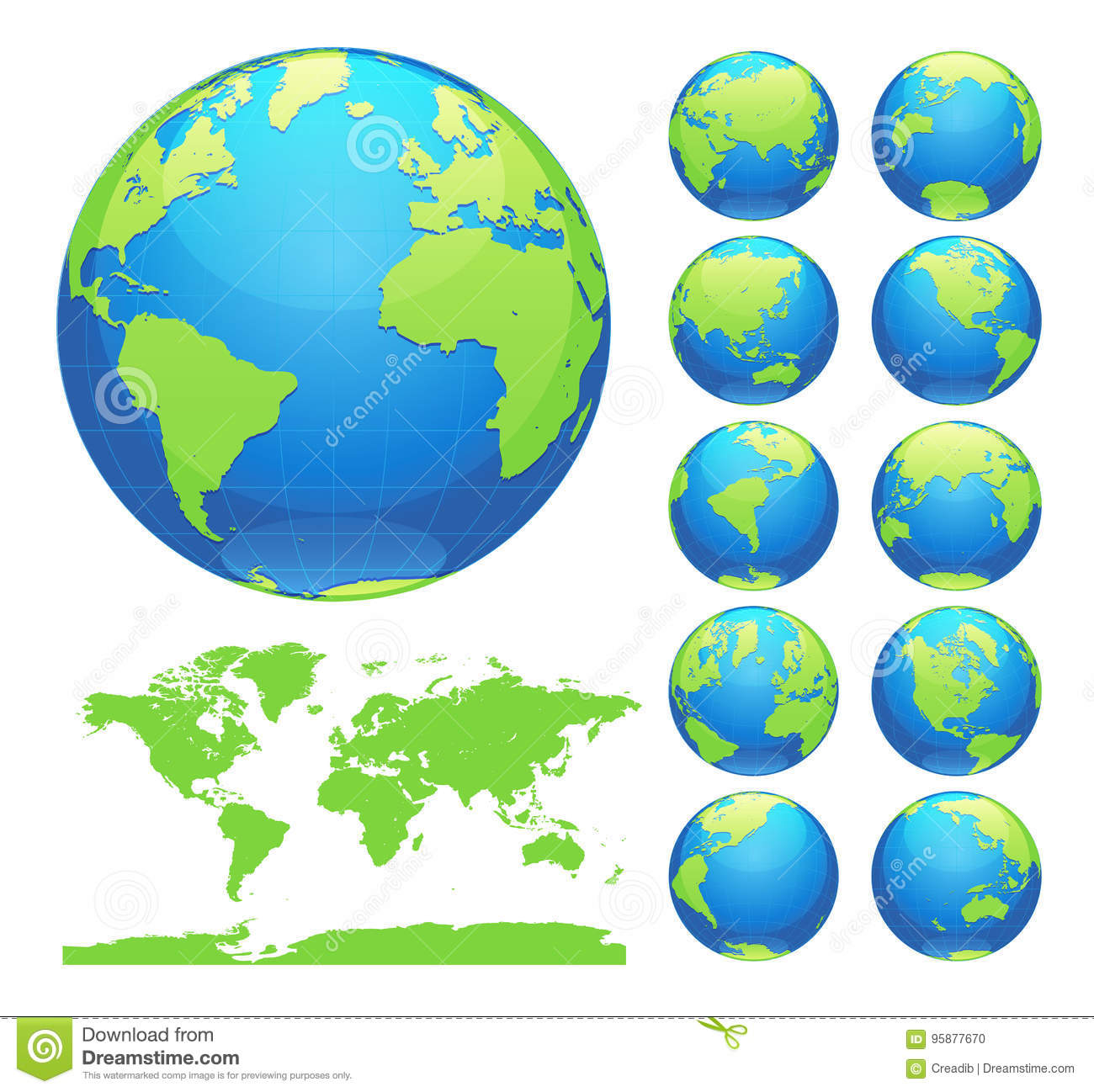 Globes showing earth with all continents digital world globe vector globes showing earth with all continents digital world globe vector dotted world map vector collection asia gumiabroncs Gallery