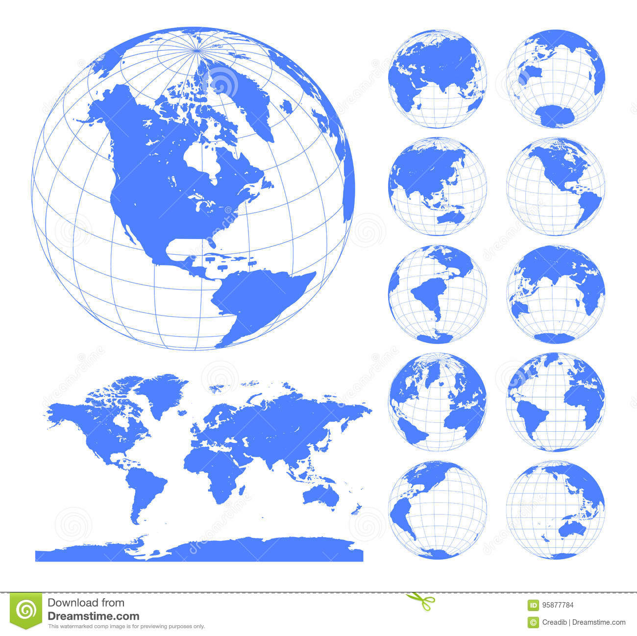 Globe vector free best clipart gallery globes showing earth with all continents digital world globe vector rh dreamstime com globe vector free gumiabroncs Choice Image