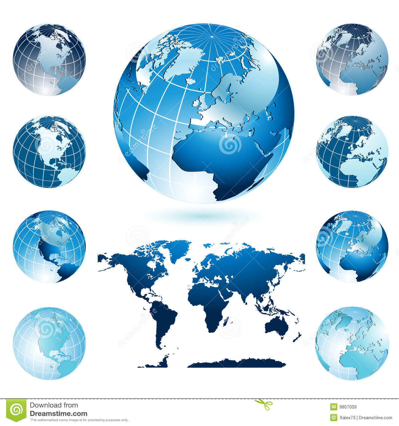 Globes and World Map
