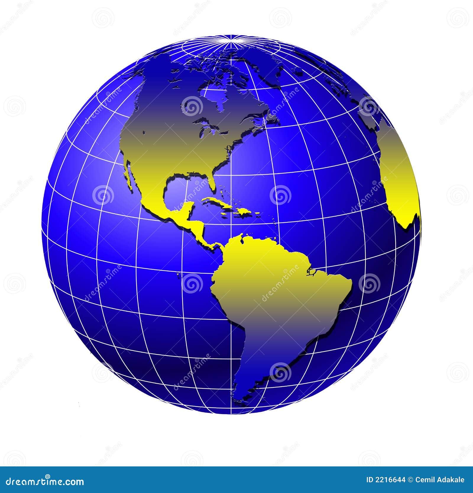 Globo 3 Del Mundo Stock De Ilustración Ilustración De East 2216632