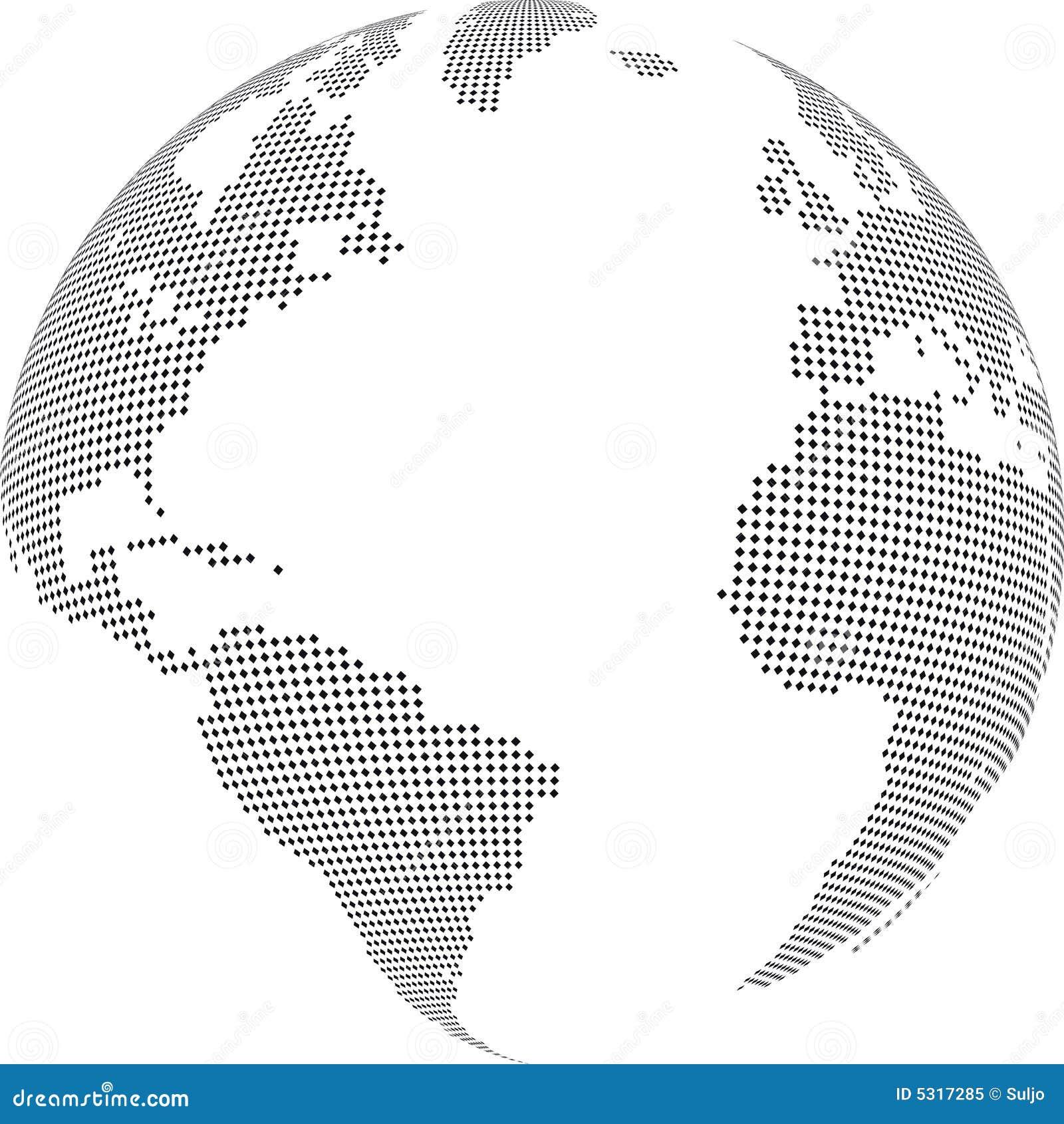 Download Globo illustrazione vettoriale. Illustrazione di america - 5317285