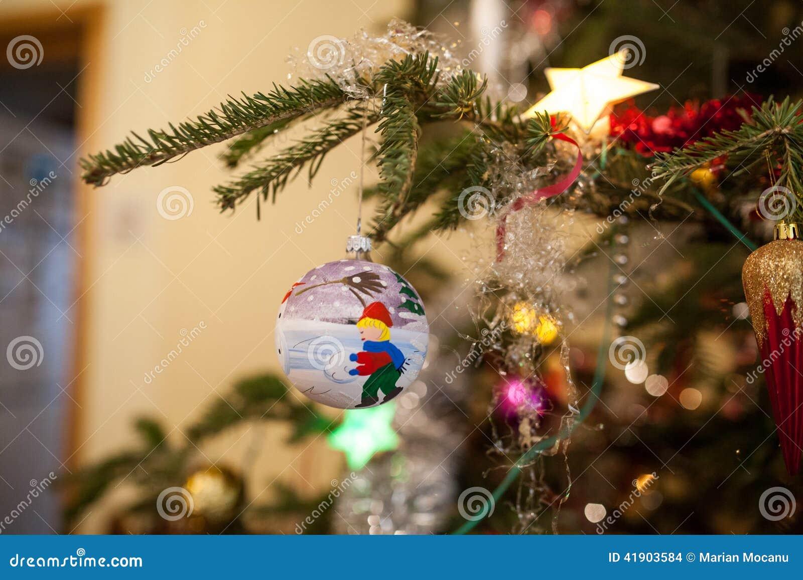 Globo azul de la Navidad