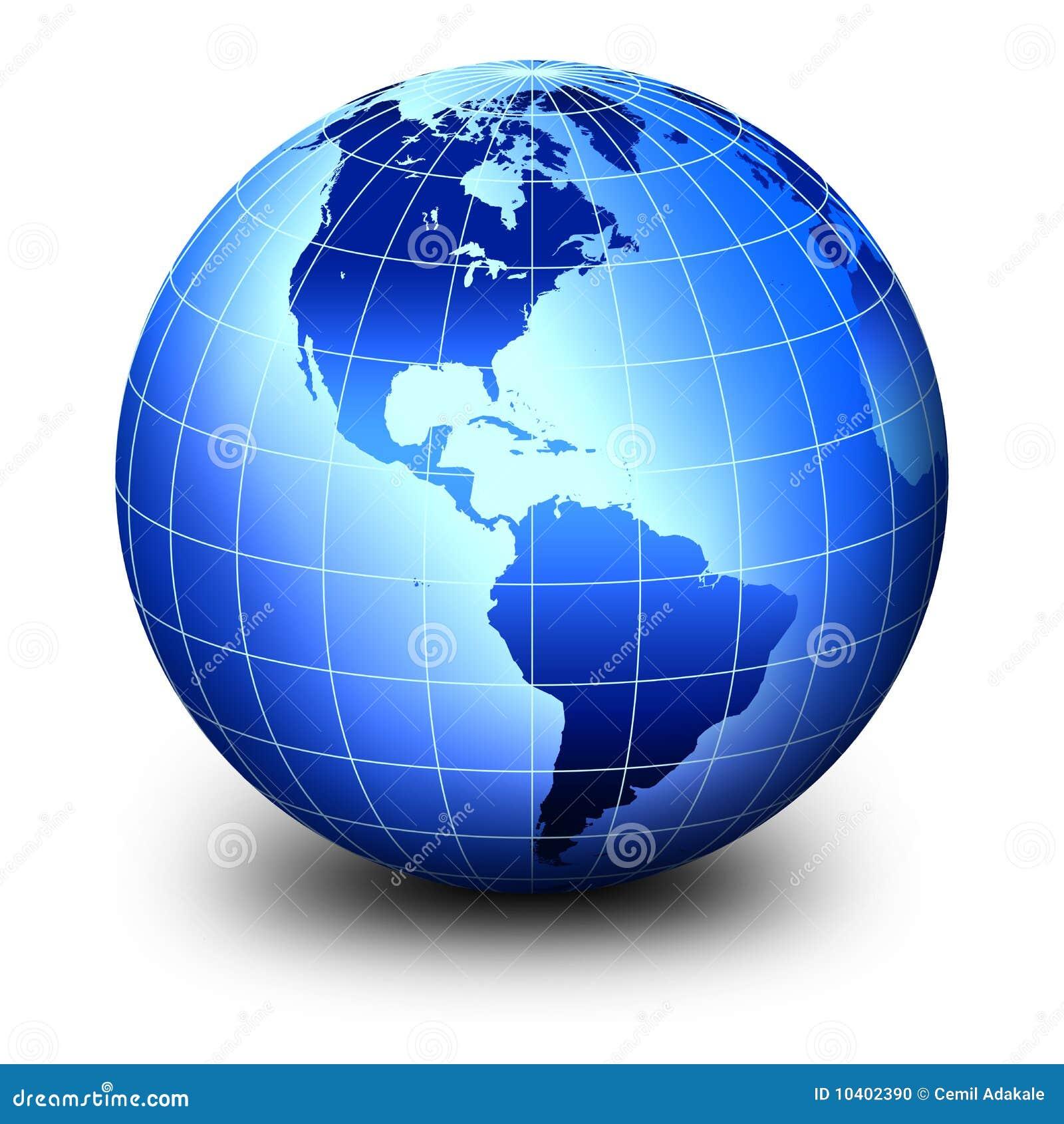 Globo Azul Del Mundo Stock De Ilustración Ilustración De Noche