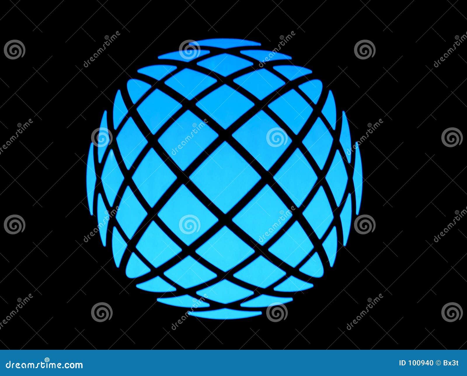 Globo claro azul