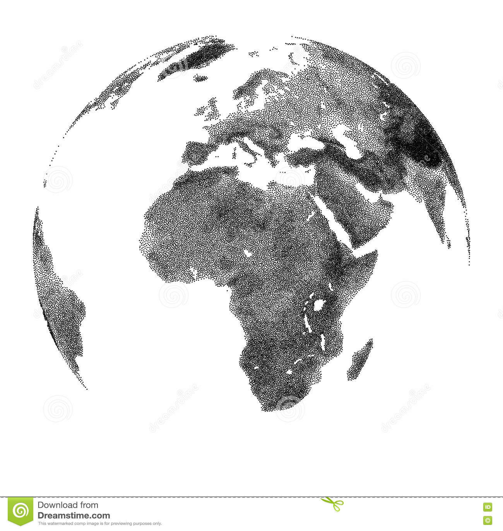 Globo com relevo continental - opiniões de África