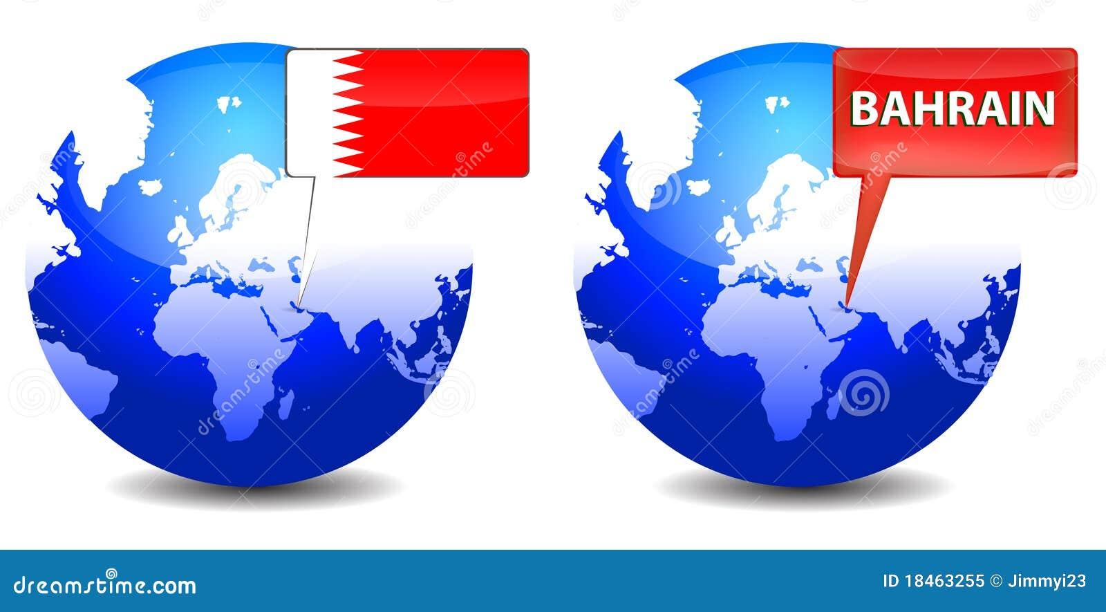 Globo con la muestra de Bahrein