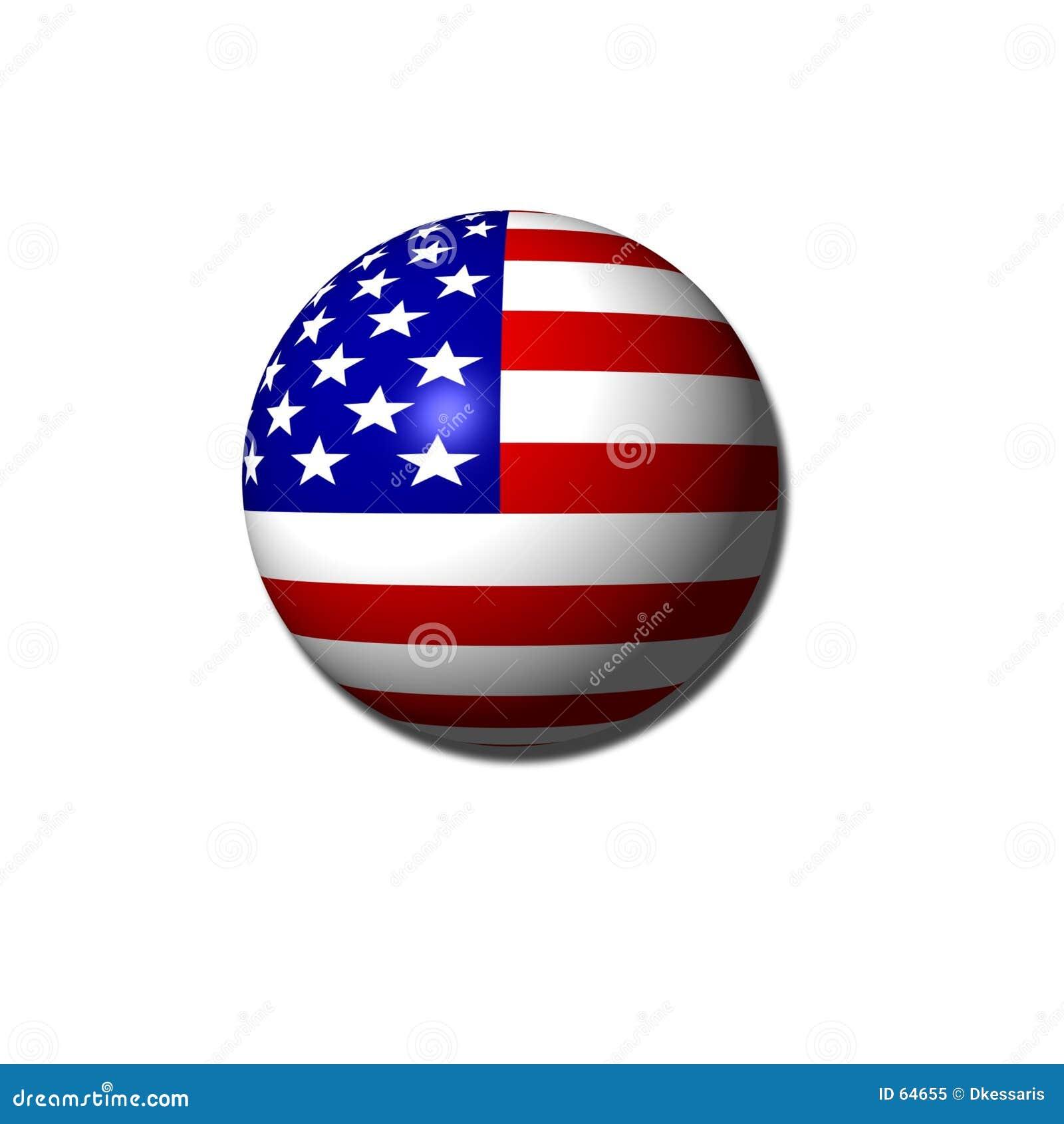Globo da bandeira americana