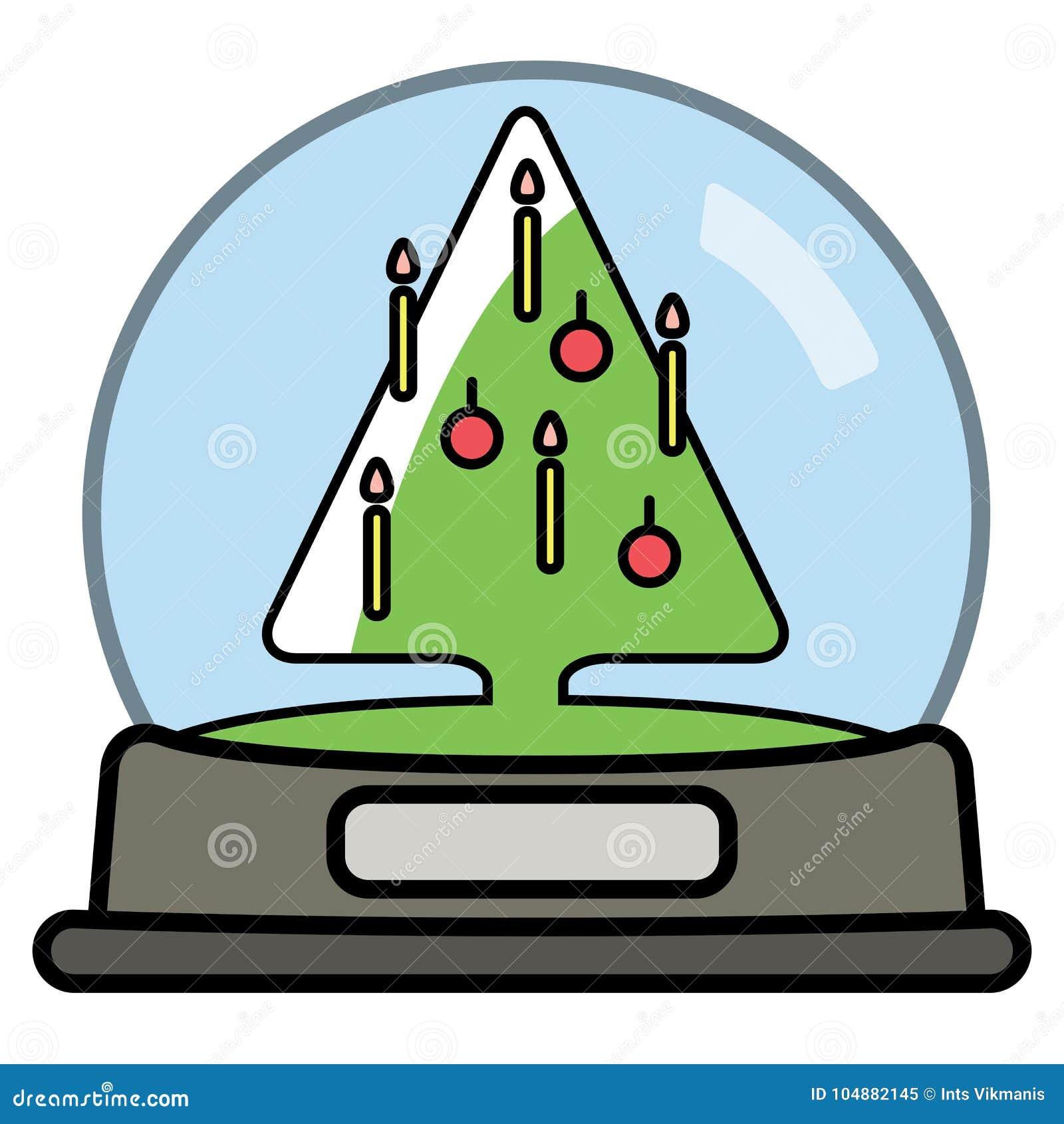 Globo de la nieve con el árbol de Christams