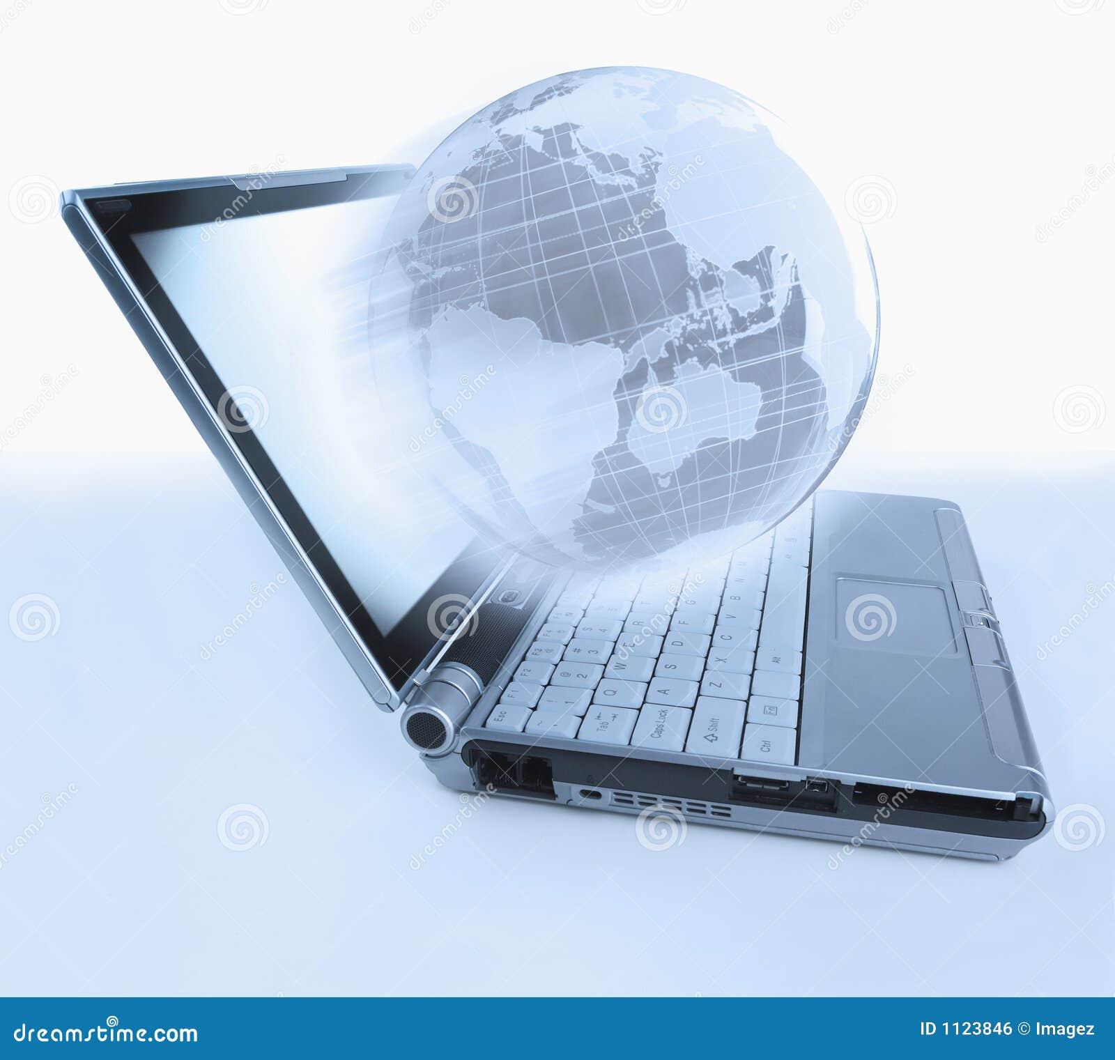 Globo del computer portatile