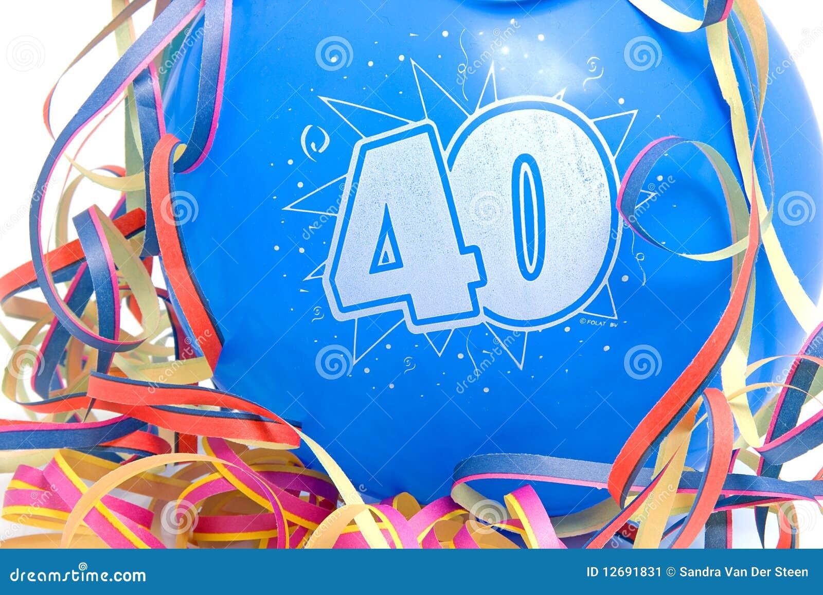 Imagenes De Cumpleanos Numero 40.Globo Del Cumpleanos Con El Numero 40 Imagen De Archivo
