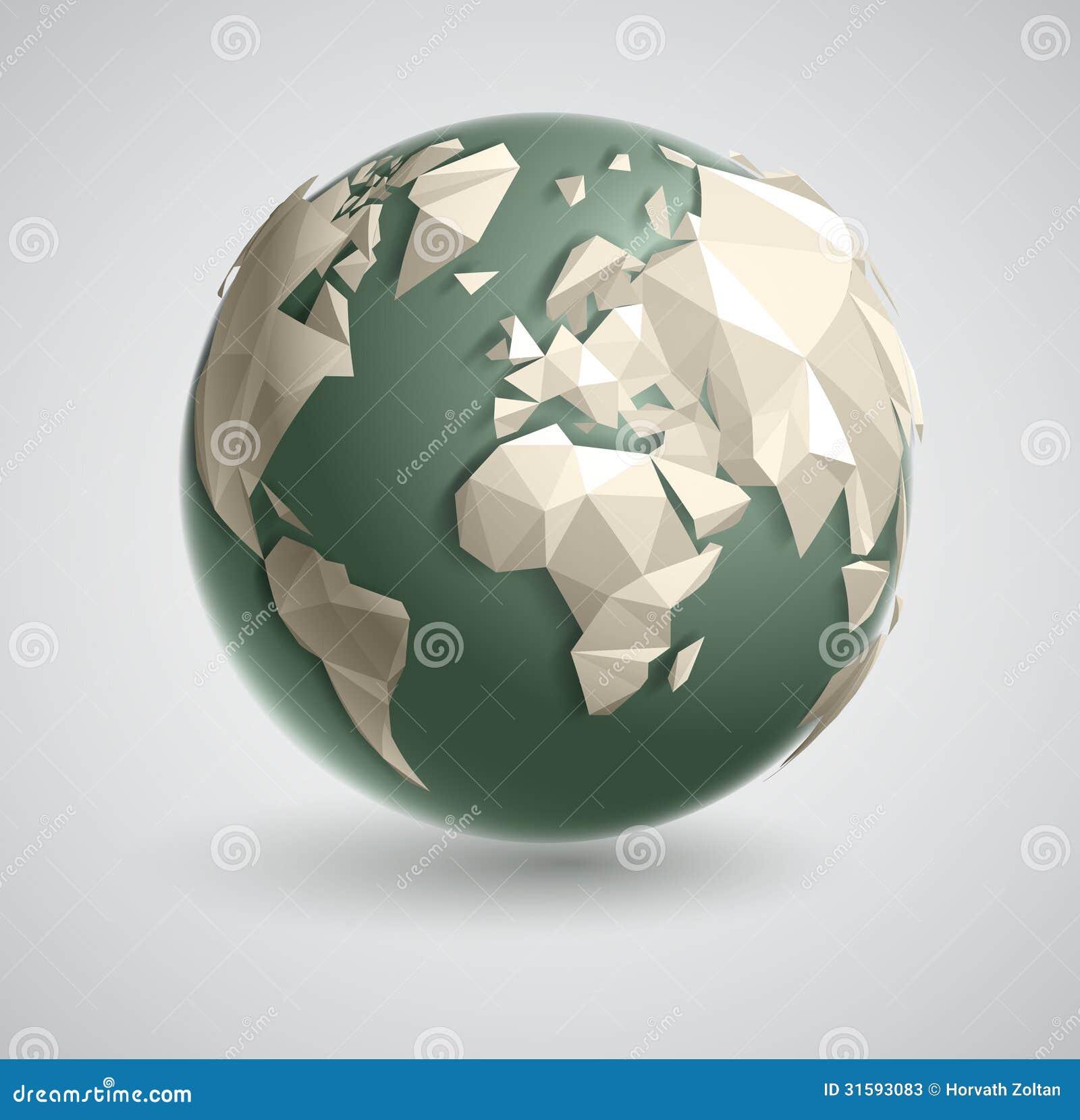 Globo del mundo del triángulo