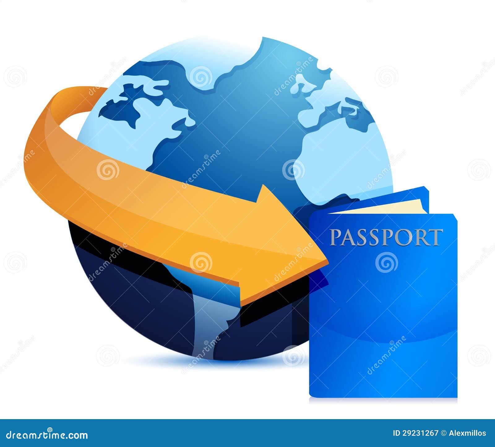 Download Globo do passaporte ilustração stock. Ilustração de cartography - 29231267