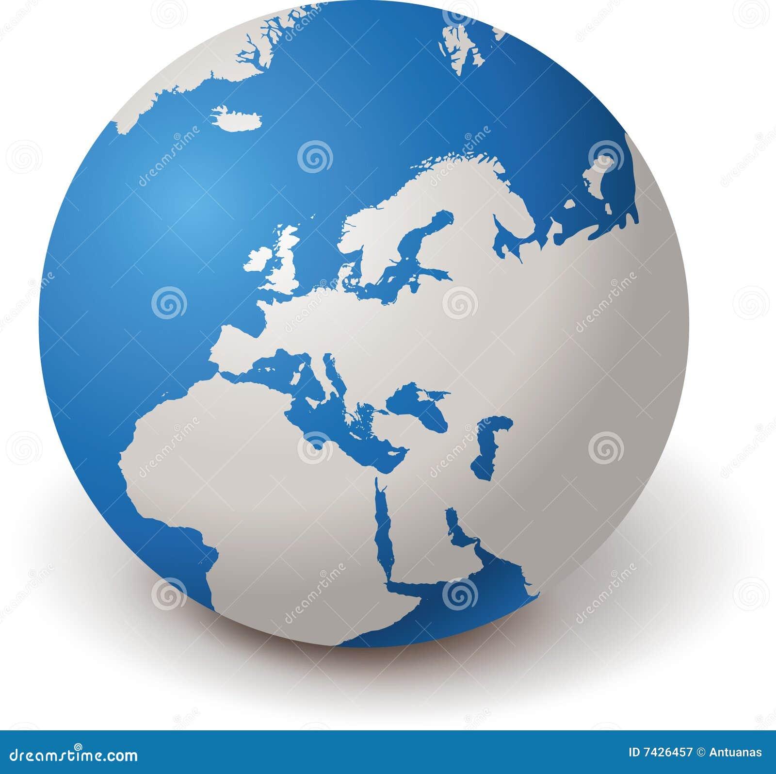 GLOBO EUROPA 3d del MUNDO