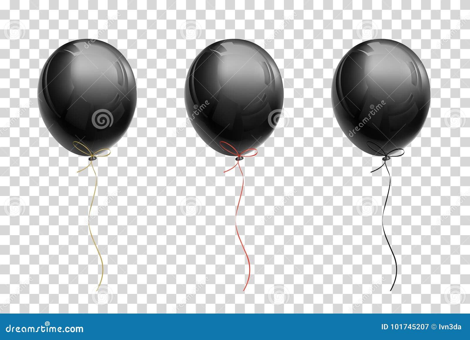 Globo negro del vuelo con las cintas del oro, rojo, negro en un transporte