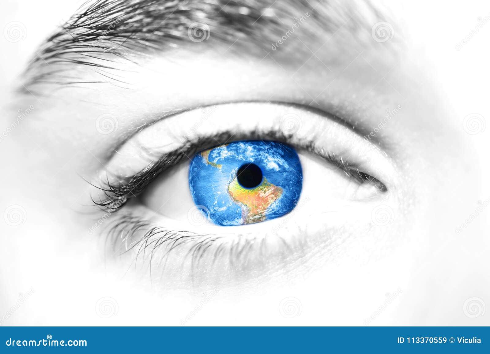 Globo no olho bonito