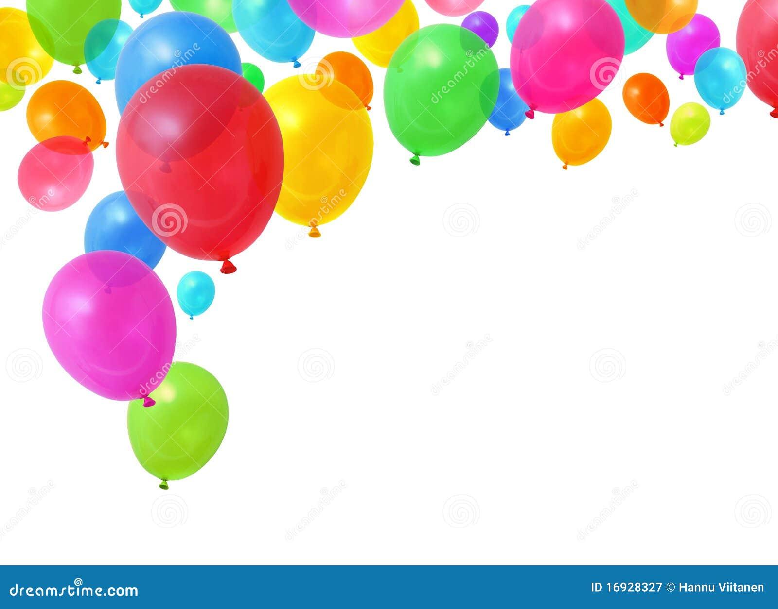 Landscape Birthday Balloons Border