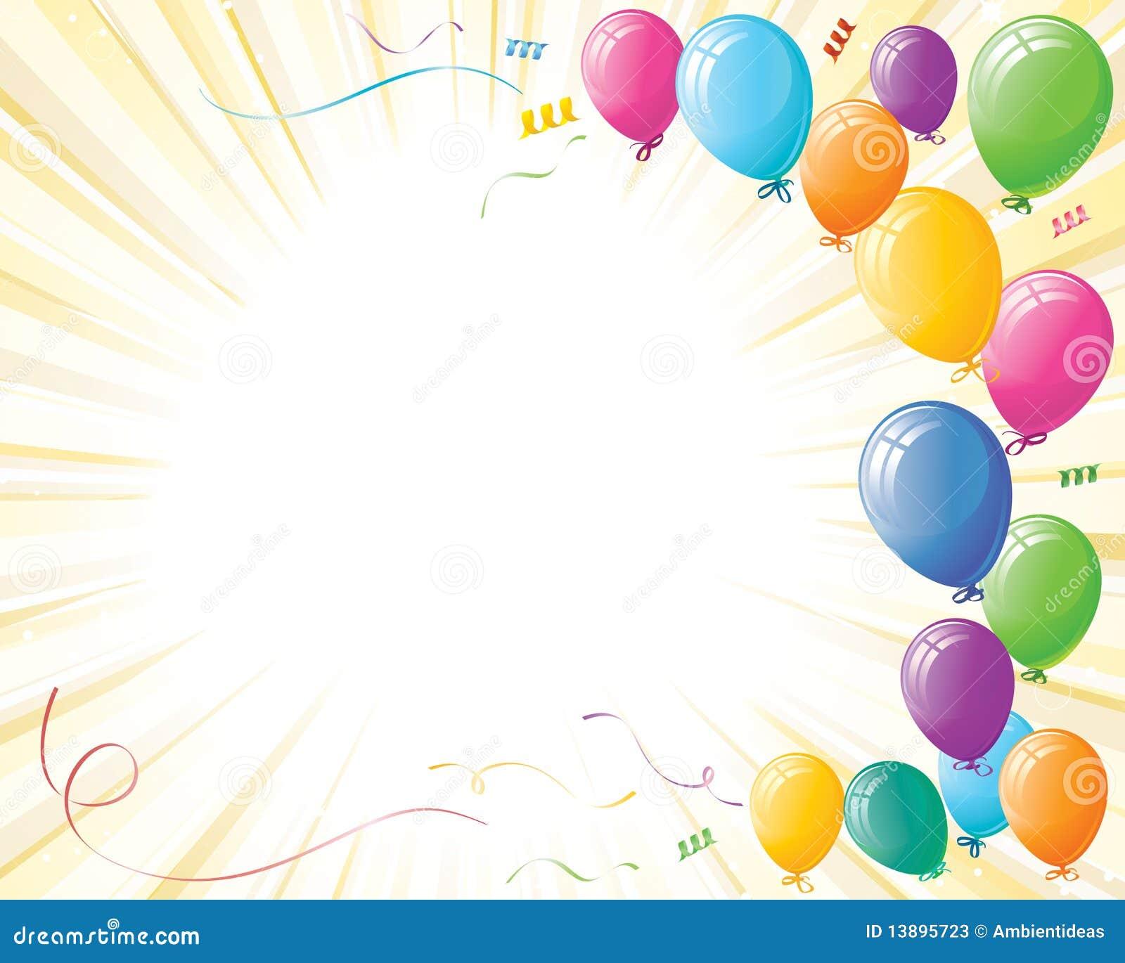 Globos De La Celebración Del Partido En La Explosión Del Amarillo ... aa1895283ac