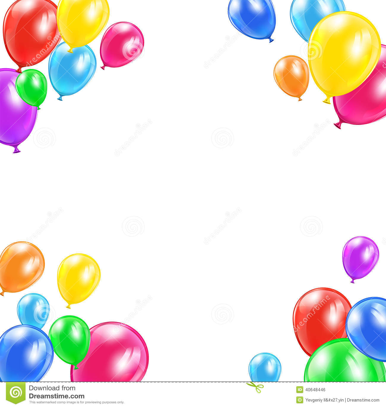 globos decorativos ilustraci n del vector ilustraci n de