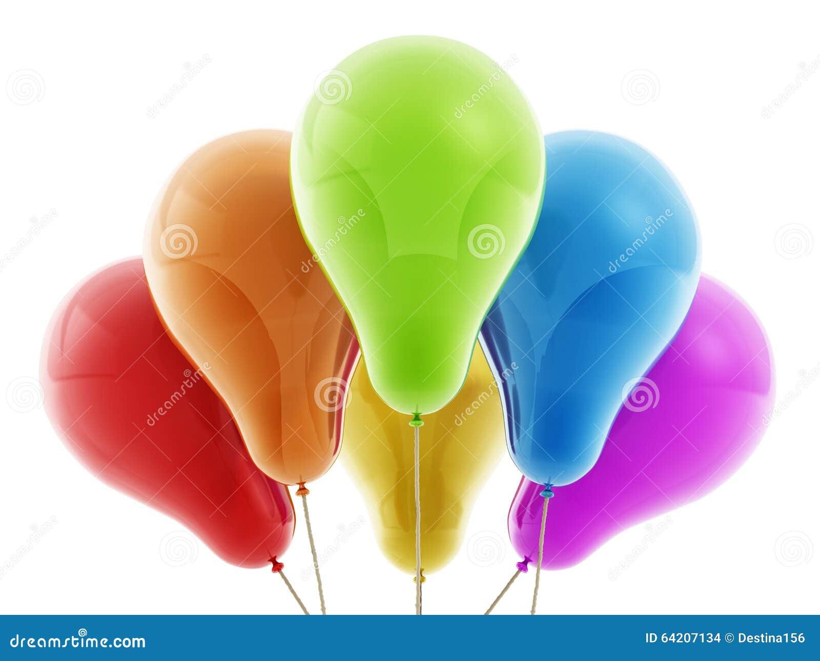 Globos decorativos coloreados multi