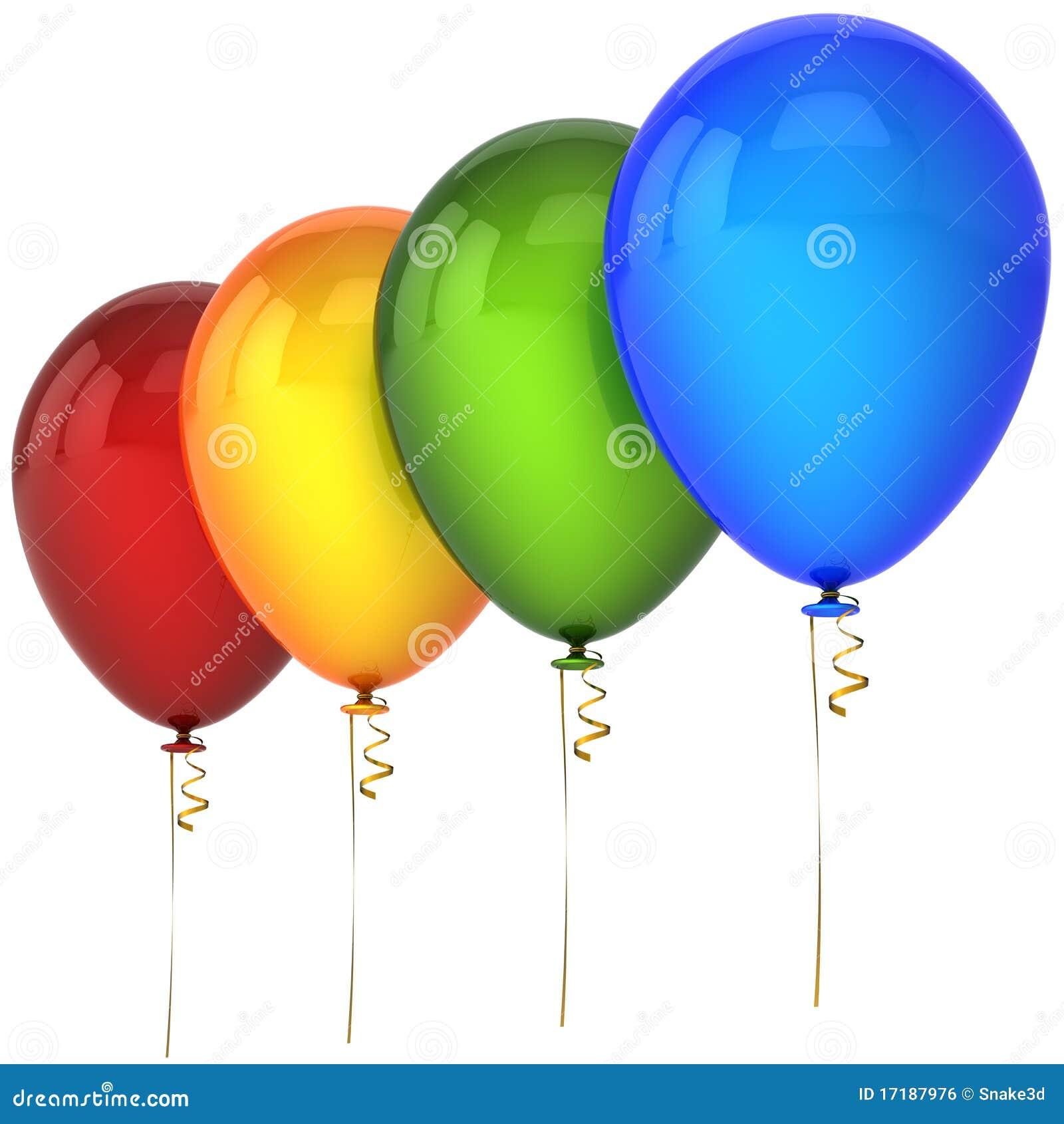 Globos del helio en una fila imagen de archivo libre de - Llenar globos con helio ...