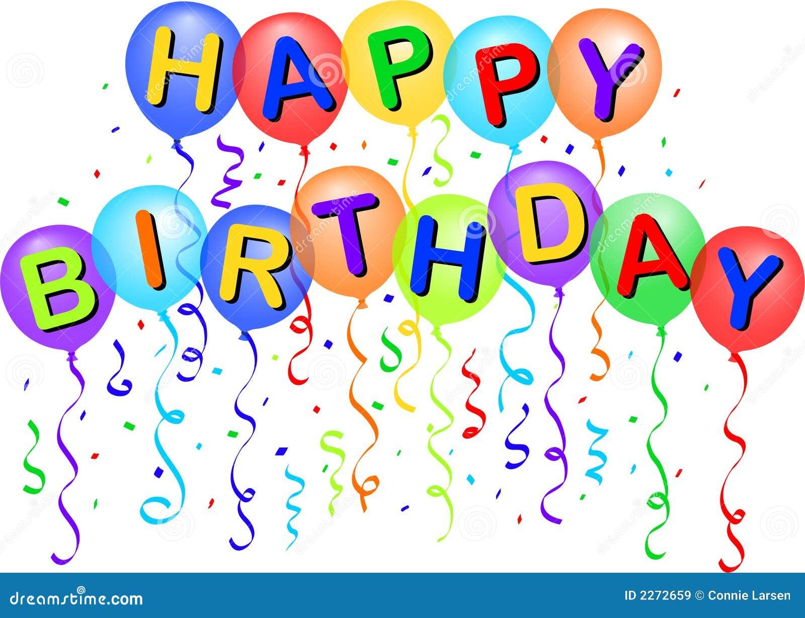 Globos/EPS del feliz cumpleaños