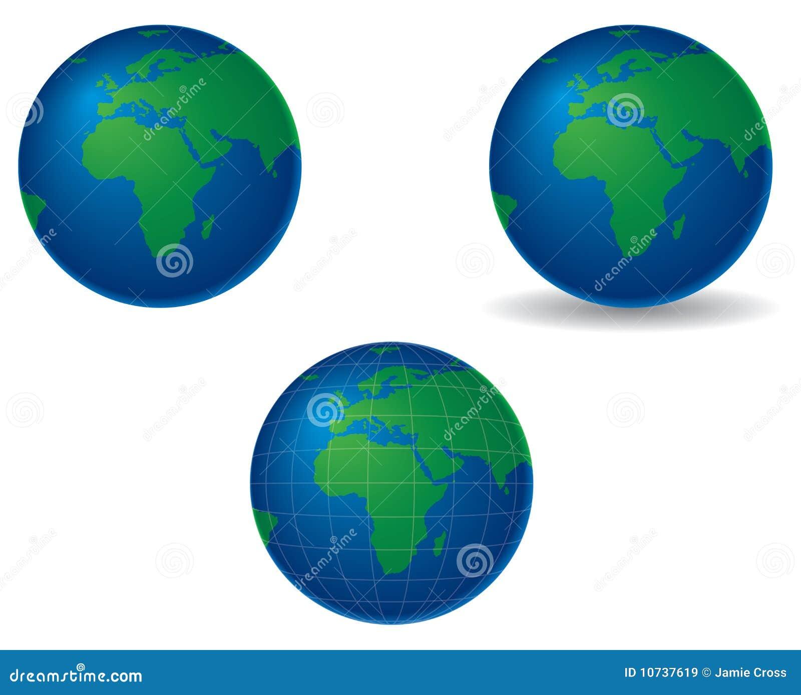 Globos - Europa y África