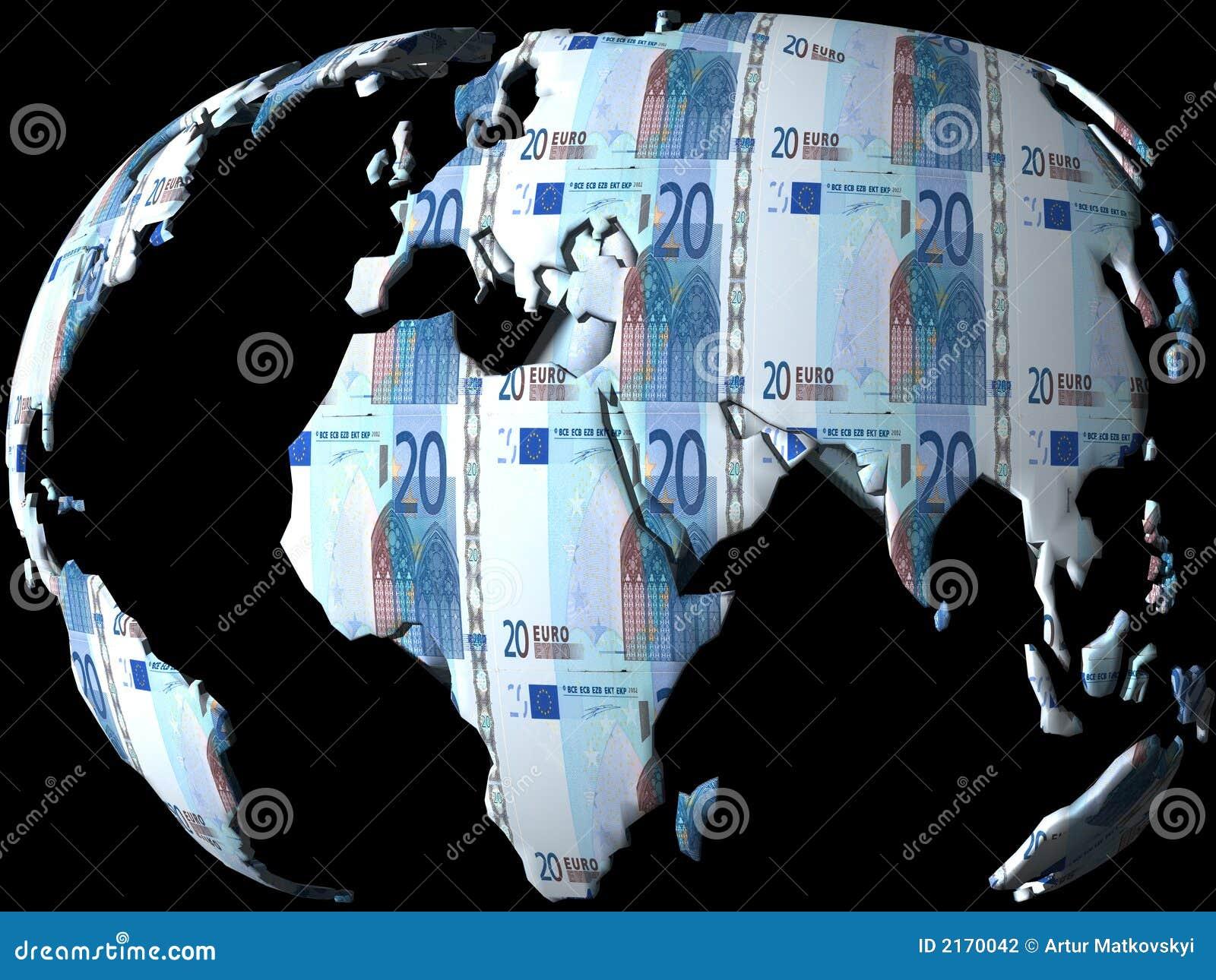 - globus pieniądze